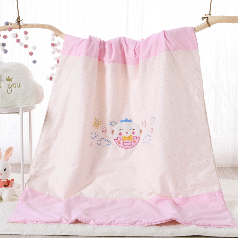 COTTON EMBROIDERED CHILDREN SUMMER QUILT - CHICKEN POWDER