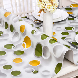 PVC transparent tablecloth waterproof, anti-ironing, anti-oil, no-wash, tasteless soft glass table mat, plastic tea table mat tablecloth