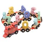 儿童益智数字小火车木制玩具套装0-9数字木制过山车游戏女孩男孩