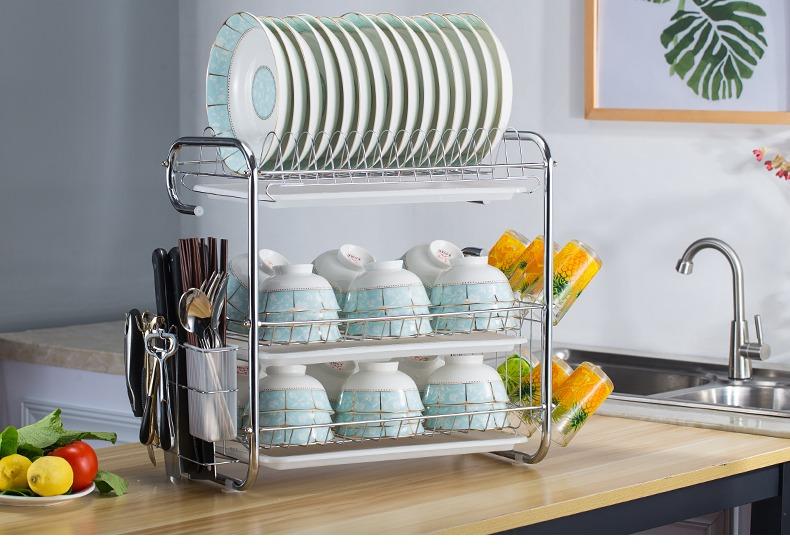 廚房置物架用品餐具收納盒盤子碗收納架刀架碗柜碗碟瀝水碗架廚房店長熱推