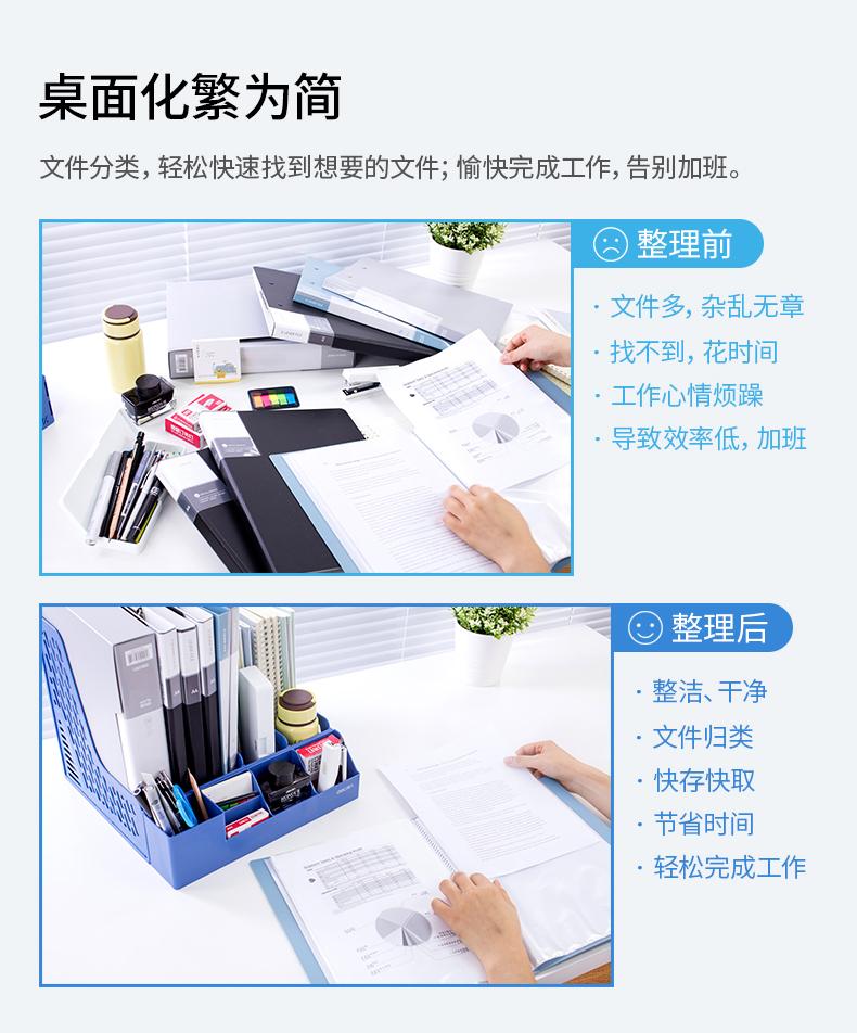 辦公用品文件框四聯文件座桌面資料架收納文件整理置物架