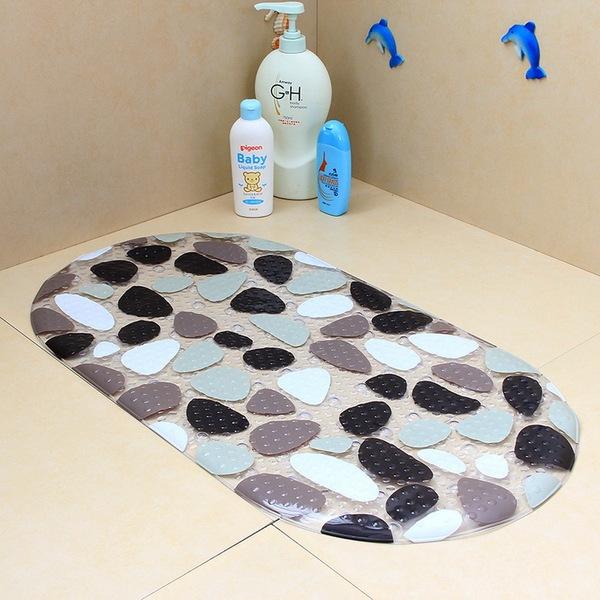 Большой размер цвет камень PVC ванная комната мат сын снаряжен присоска душ тахта ванная комната ребенок мультики купаться водонепроницаемый