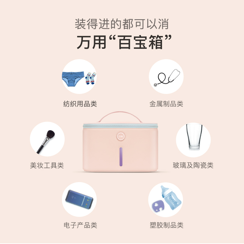 Color : Pink Disinfection Cabinet 59 Seconds Underwear Disinfection Underwear Disinfection Household Small Disinfection Ultraviolet Disinfection Artifact Baby