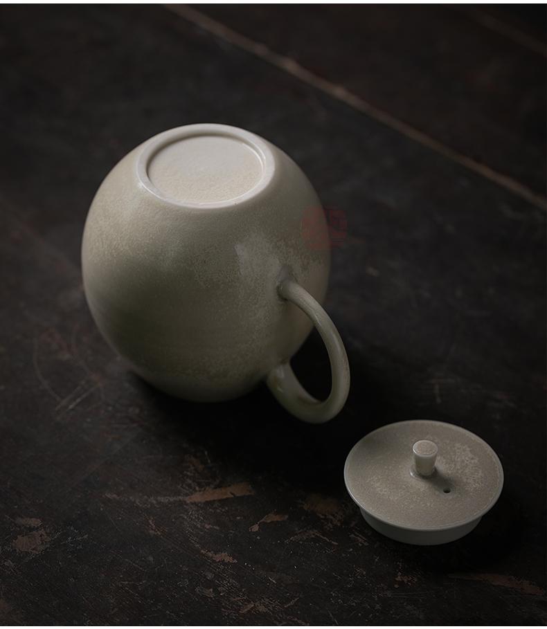 江南往事手工茶壶套装家用柴烧落灰龙蛋壶陶瓷功夫茶具单壶小茶壶