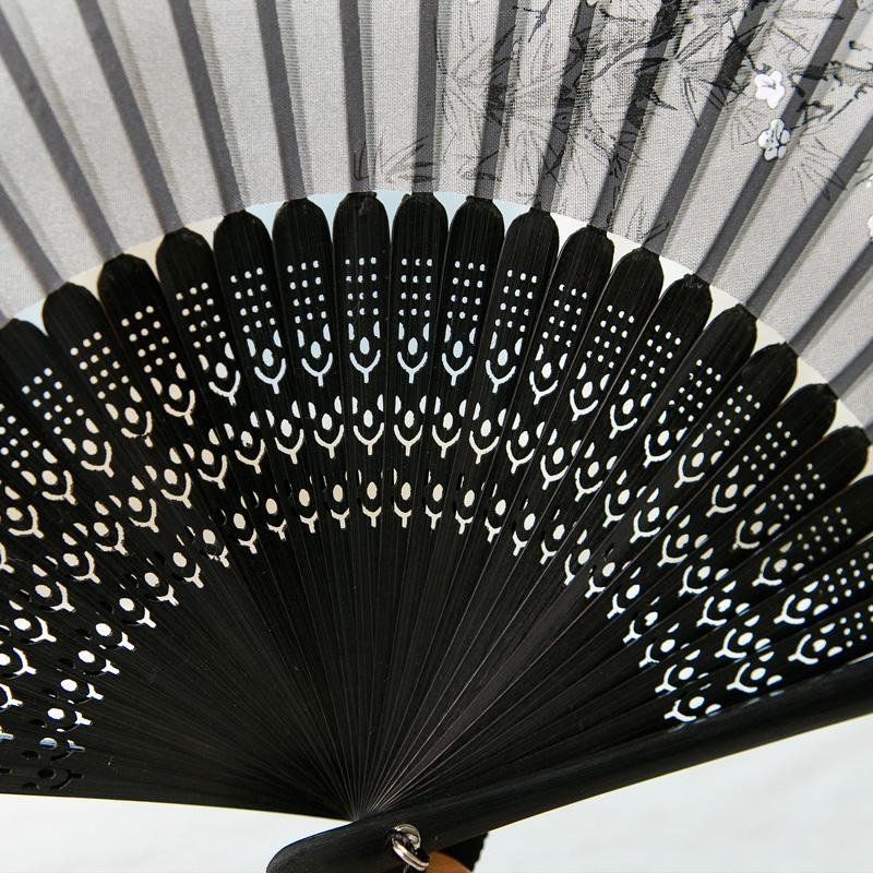 Веер Специальный Нефритовый зал вентилятор складной веер китайский стиль классическая шелк шелк вентилятор Японский стиль и подарок вентилятор бытовой вентилятор белый слива