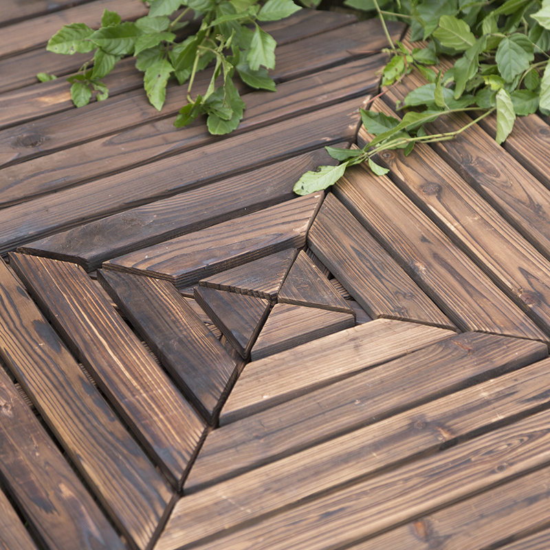 Carbonized Wood Solid Wood Garden Wood Preservative Balcony Outdoor