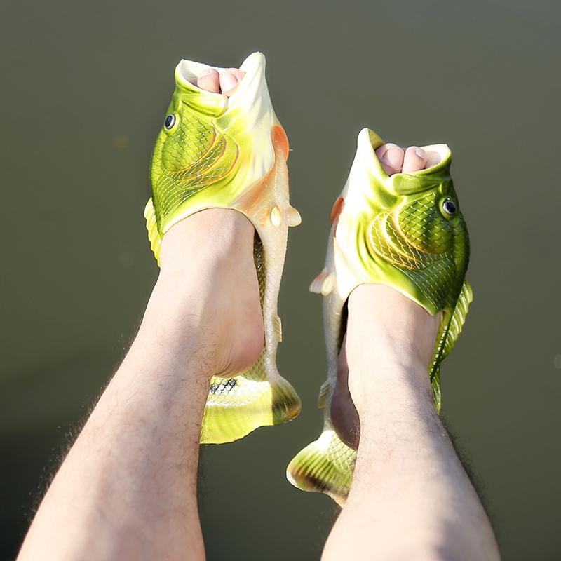抖音同款:创意咸鱼拖鞋