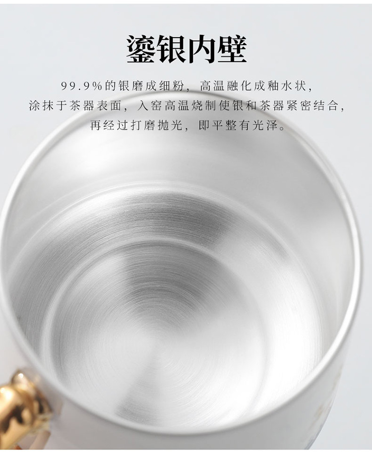 Dehua white porcelain couples suet jade cup to make tea cup longfeng filter glass office cup cup with cover the boss