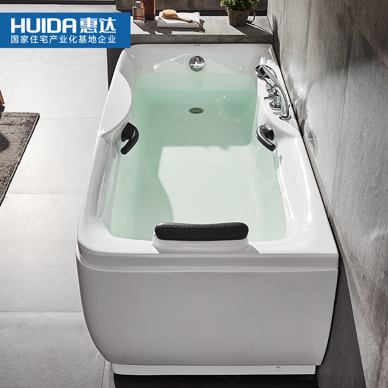 Huida bathroom bathroom small family bath home adult massage bathtub ...