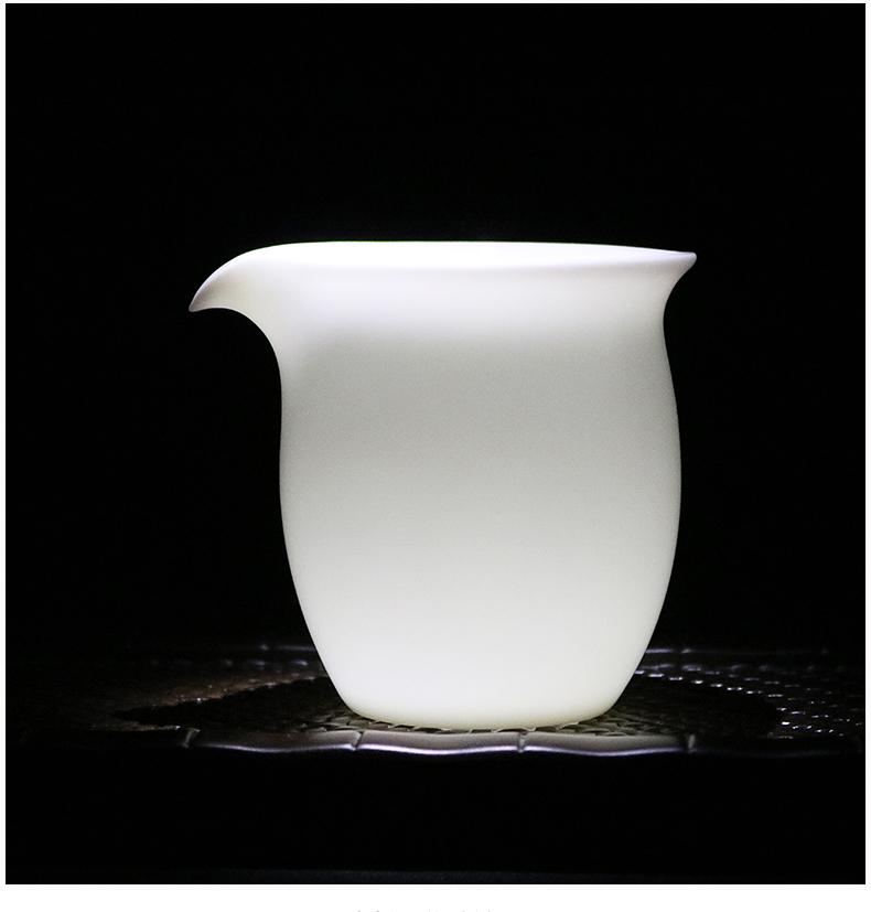 Dehua porcelain ceramic fair keller kung fu tea set jade creative male white porcelain tea points of eagle tea ware sea fair