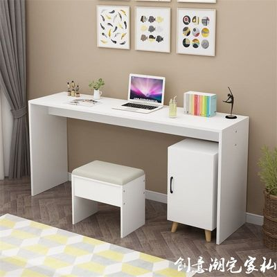 Simple modern computer table, household desk, bedroom, writing desk, simple table, long work desk
