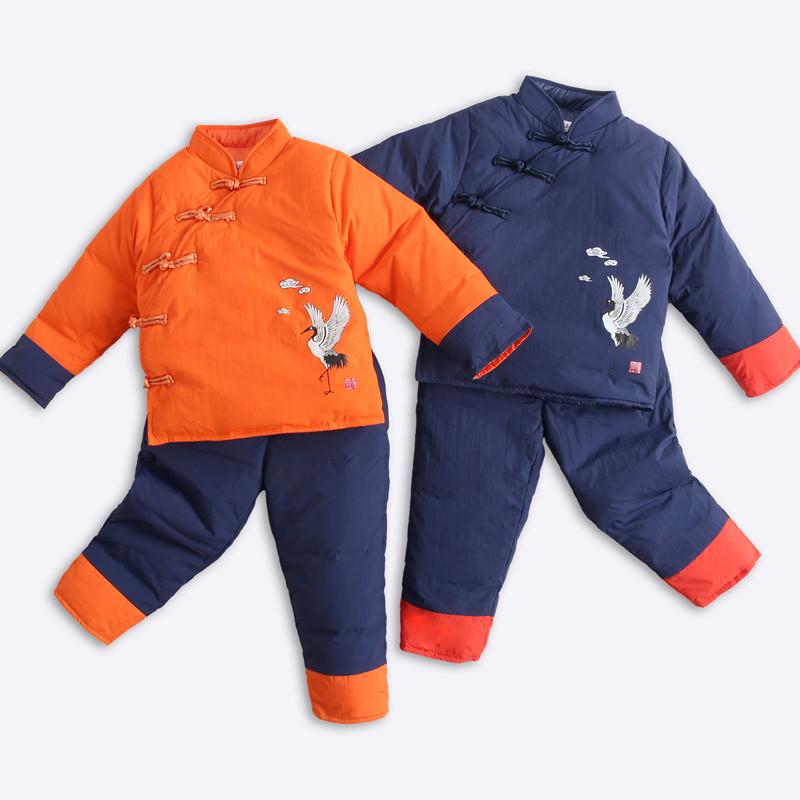 儿童唐装婴儿羽绒服外套1-3岁女宝宝男童装冬装羽绒内胆套装女冬天猫超市优惠券照片