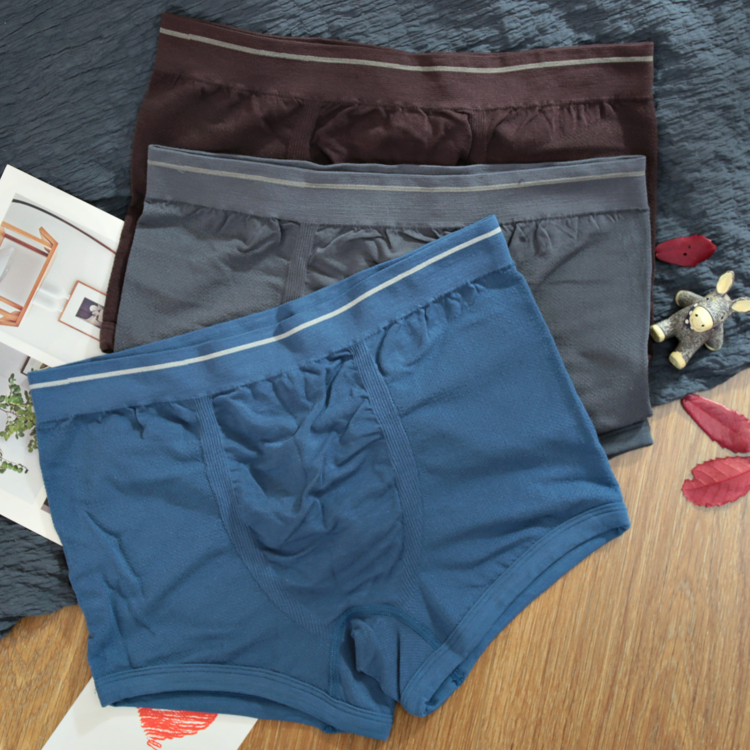 Men s silk underwear cotton and linen boxer briefs Japanese single foreign  trade a piece of seamless fc912d362
