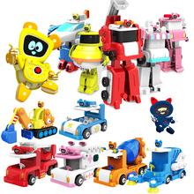 嘟当曼磁性拼装消防车警车救护车儿童都铛慢漫变形机器人玩具男孩