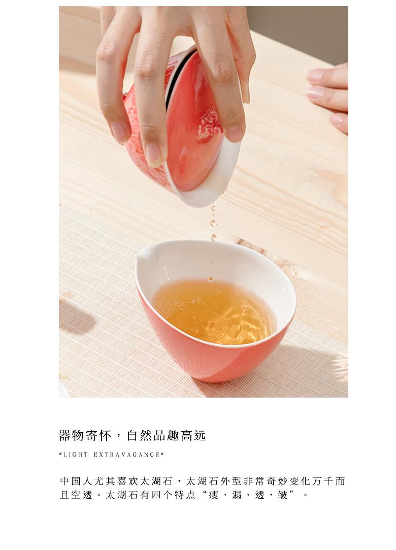 "The Self - ""appropriate content carmine tureen jingdezhen manual single cup bowl tea Japanese kung fu tea set"