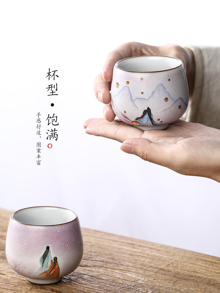 Jingdezhen your up kung fu masters cup checking ceramic cups sample tea cup tea cup hand - made ancient characters