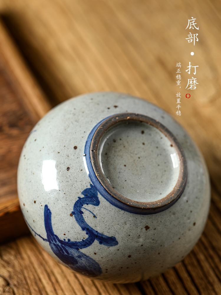 "Water jar for wash tea tea accessories ""four jingdezhen porcelain tea small hand - made ceramic calligraphy writing brush washer Water cheng, a bird"