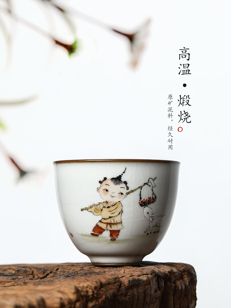 Pure manual your up CPU master cup of jingdezhen kung fu tea set sample tea cup single CPU hand - made tong qu ceramic bowl