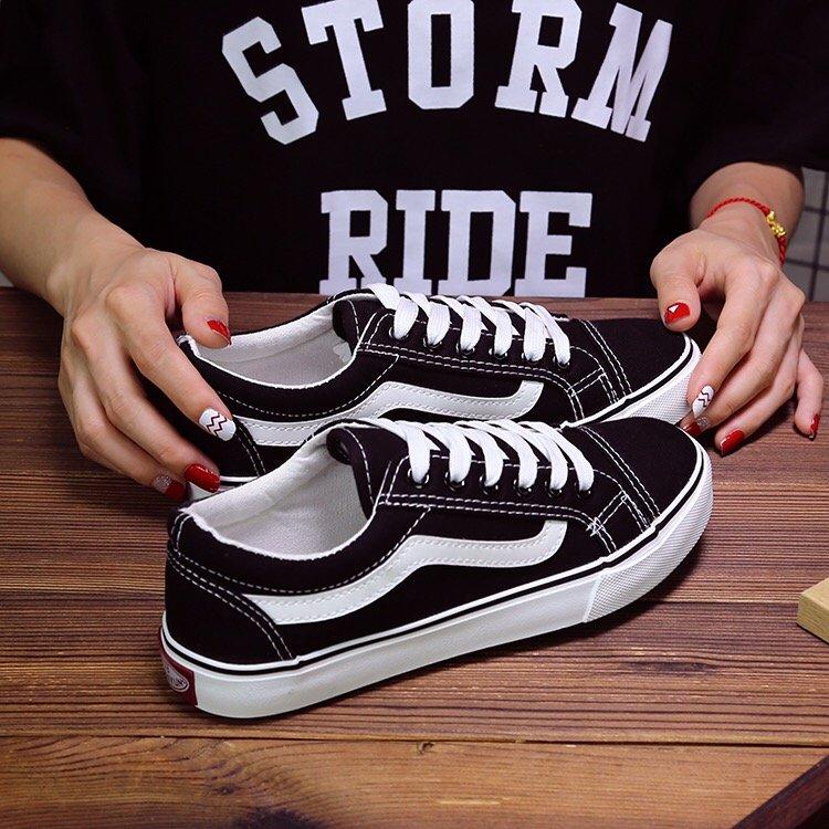 2019女士秋季新款帆布鞋女新款韩版百搭学生布鞋板鞋平底小白女鞋