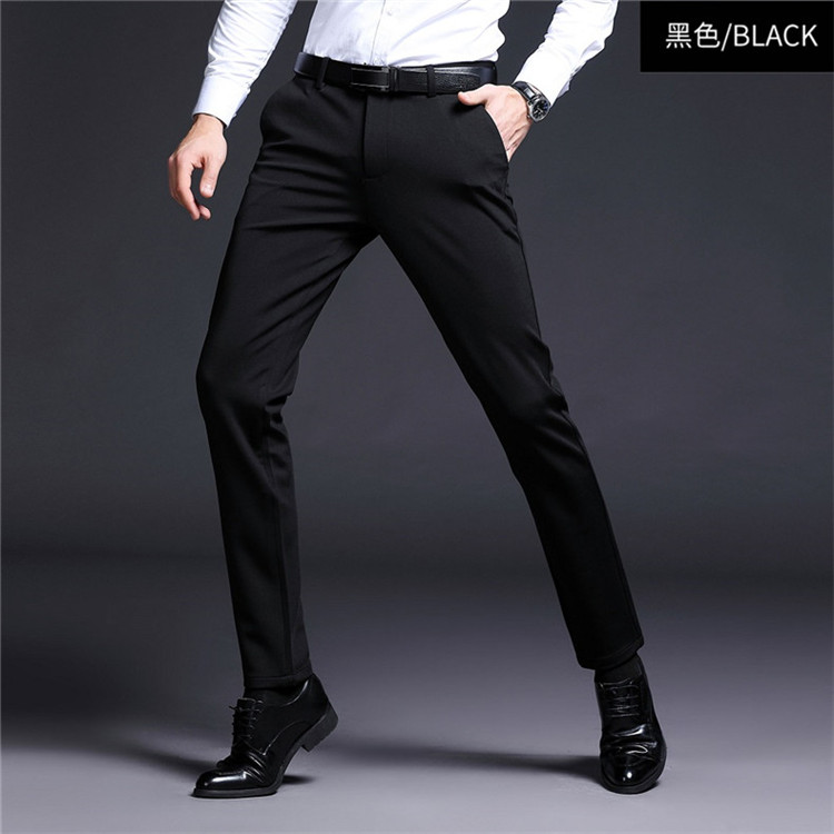 Mùa thu và mùa đông quần nam mới quần nam kinh doanh quần âu quần tây nam quần dài Slim quần đen dày nam - Quần