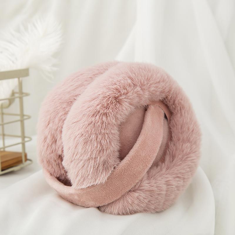 韩版可折叠耳套保暖耳罩仿兔毛