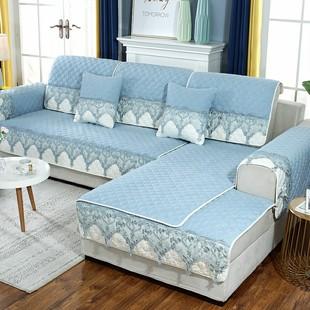 四季通用布艺防滑沙发坐垫