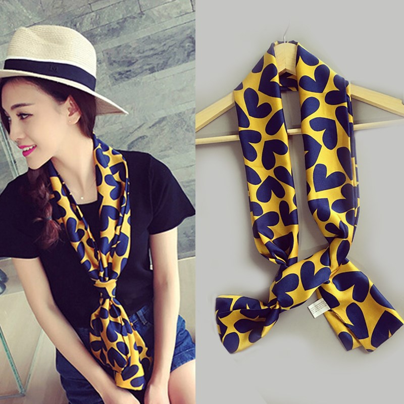 Summer cover neck scarf bright photo neck sheath neck protection sun spring thin scarf Korean version of female summer long strip