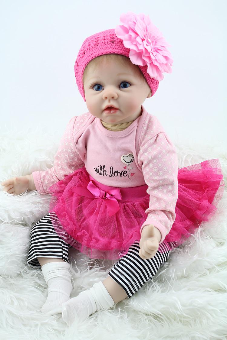 Realistic Handmade Baby Girl Doll Newborn Vinyl Silicone Alive Reborn Baby Dolls