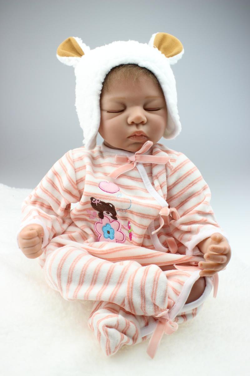 "22"" Handmade Lifelike Baby Girl Silicone Vinyl Reborn"