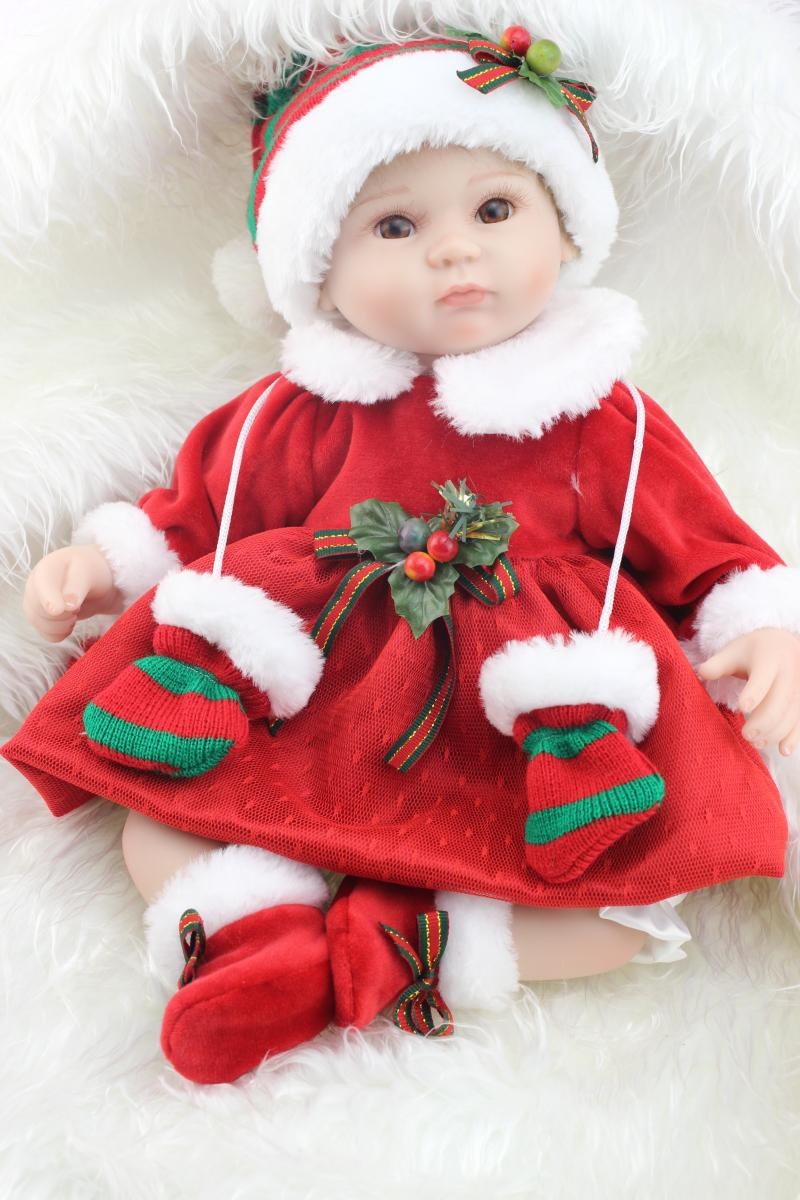 17 lovely newborn baby doll silicone reborn doll realistis christmas dress girl 693369408626 ebay
