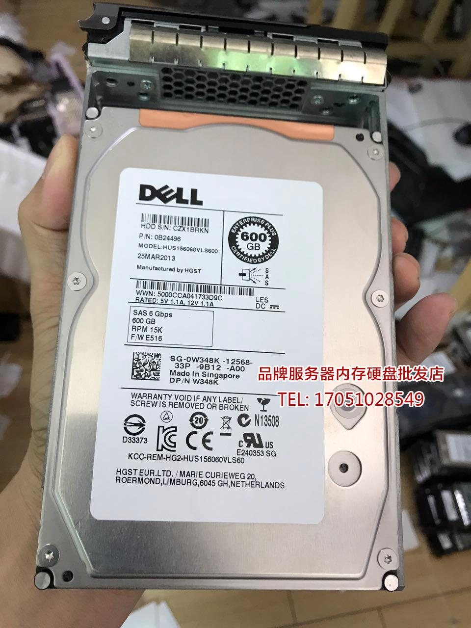 Original DELL 600G 15K 3 5 SAS Server Hard Drive 1900 1950 2950 R710 R720