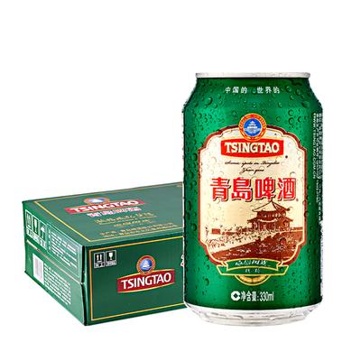 【青岛经典熟啤酒】栈桥风光整箱24罐