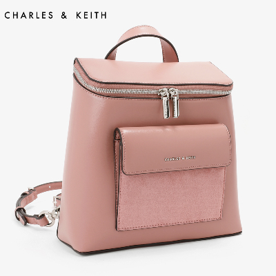 CHARLES & KEITH Backpack CK2-20150642 Europe and the United States splicing design shoulder handbags