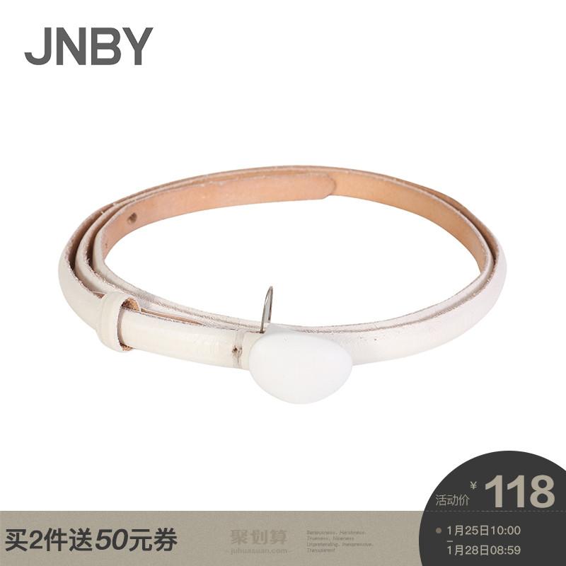 JNBY/江南布衣2018秋新品个性文艺风细带搭扣牛皮革腰带7H8100730
