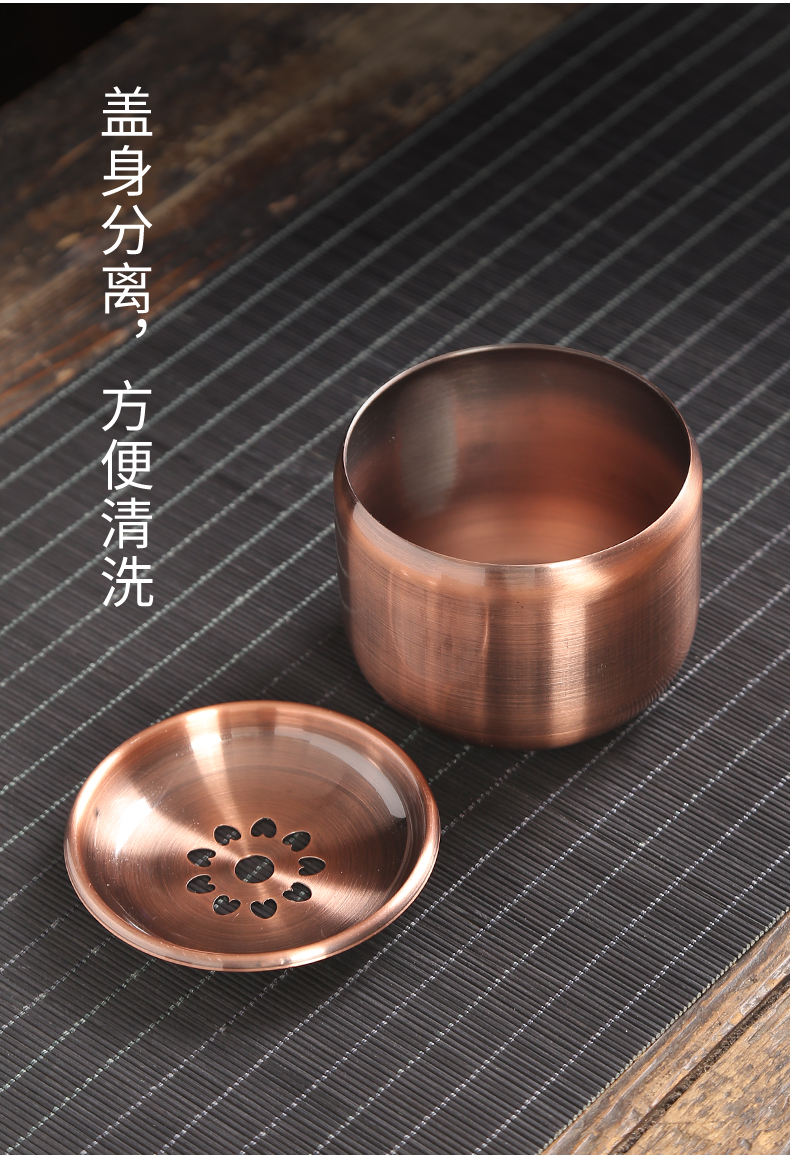 Circular manual pure copper buford it bearing pad hammer ground dry terms plate teapot kung fu tea accessories