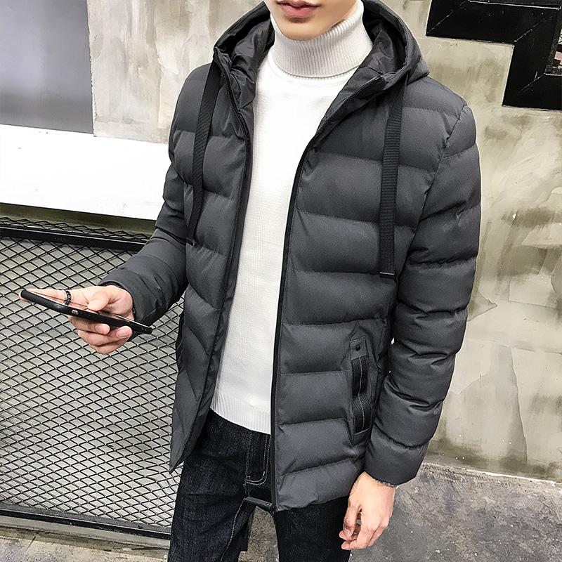 冬季加厚短款男士棉衣连帽男装