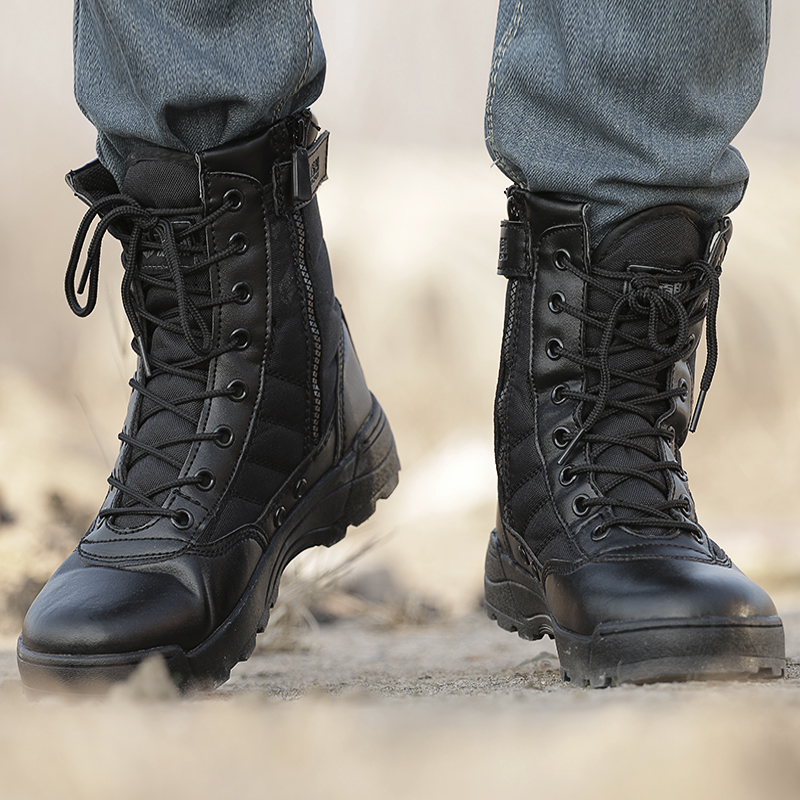 big discount store official store Military boots male special forces 07 combat boots high top tactical boots  army boots boots outdoor boots ultra-light Marine boots Army shoes
