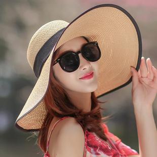 出游度假百搭沙滩草帽大沿遮阳防紫外线