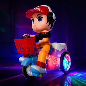 会说话的特技三轮车电动小汽车儿童网红玩具灯光音乐男孩女孩