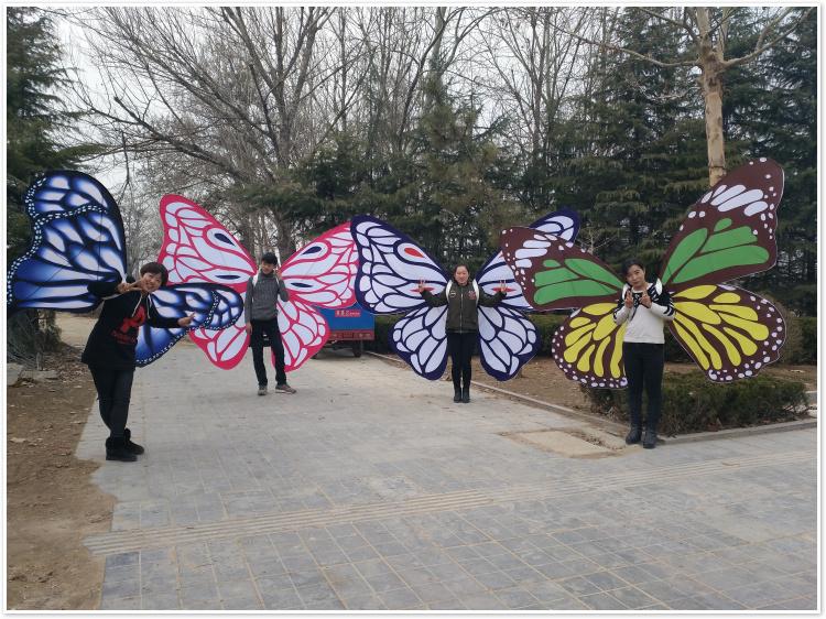房地产公园展示风筝 手工绘画蝴蝶造型走秀风筝 潍坊风筝 定做