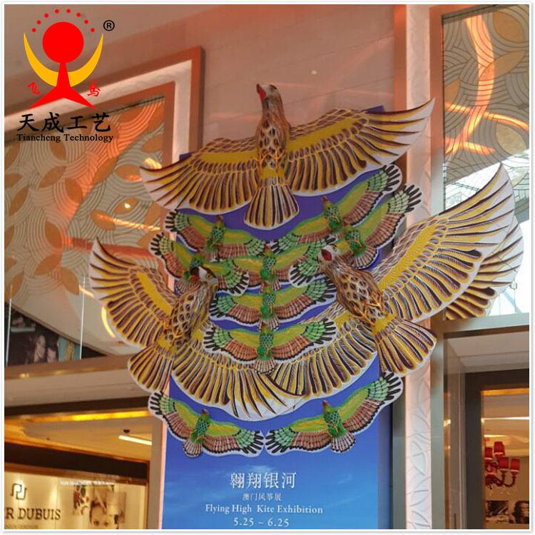 潍坊风筝 造型装饰风筝 老鹰组合风筝 商场学校室内展示风筝