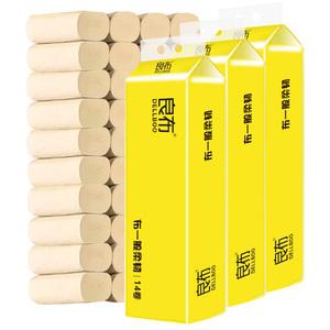 良布卷纸36卷家庭装本色实芯4层母婴适用厕所家用餐厅实惠餐巾纸