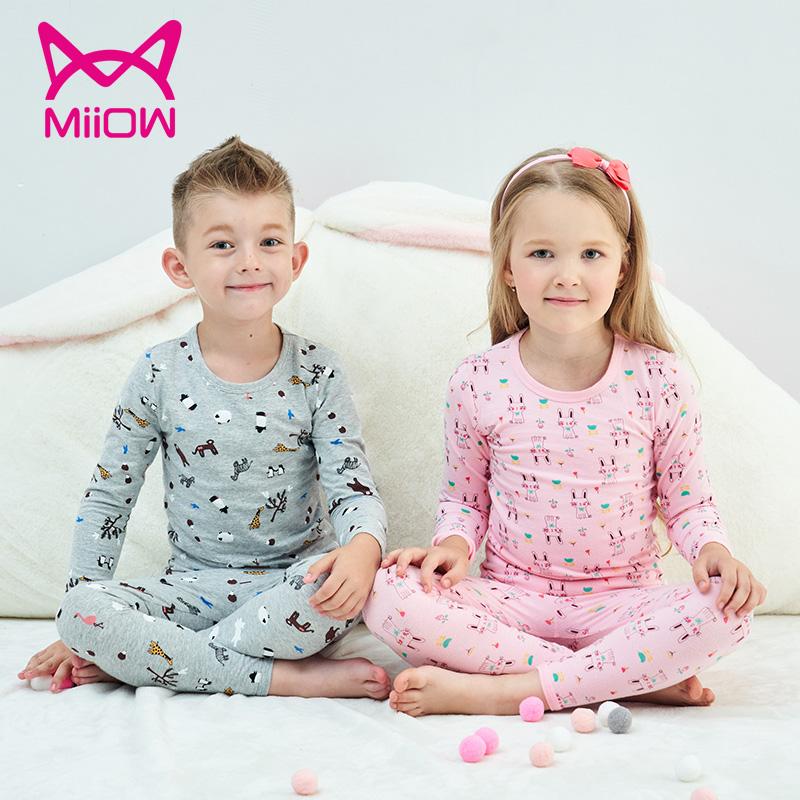 猫人儿童内衣套装长袖家居服睡衣两件套小中大童纯棉秋衣秋裤新款