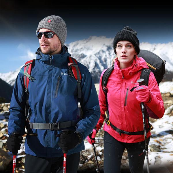探路者 Trekking徒步系列 情侣款 户外三合一冲锋衣 聚划算+优惠券折后¥399包邮(¥599-200)男、女多色可选