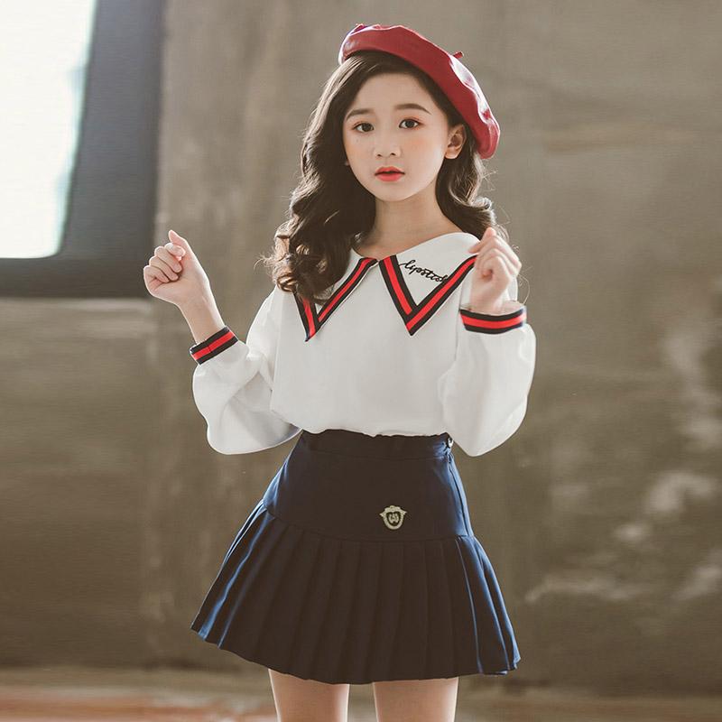 少裙子两件套装连衣裙13岁初中生14小学生15日系10女大童秋装女孩
