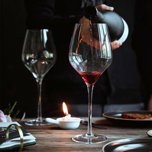 红酒杯套装家用醒酒器欧式大号玻璃6只装水晶葡萄酒高脚杯酒具2个,可在高佣联盟领取天猫优惠券10元