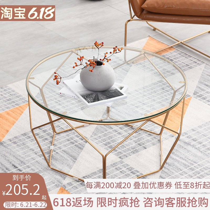 Usd 130 80 Nordic Coffee Table Simple Small Living Room Round Glass Coffee Table Ins Simple Iron Modern Net Red Small Coffee Table Wholesale From China Online Shopping Buy Asian Products