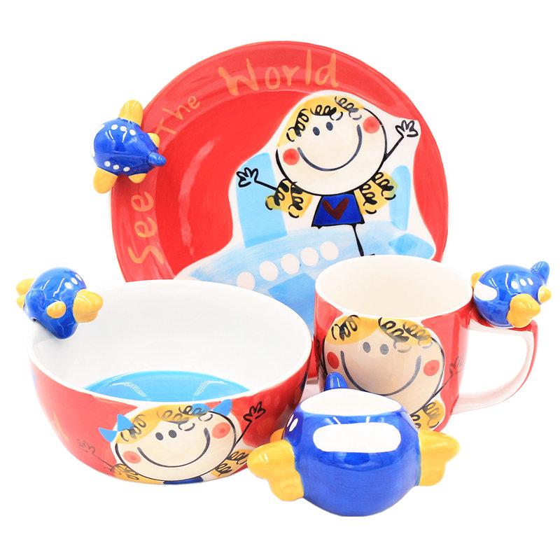 Shu also Thailand import cartoon ceramic tableware keller cup children to use bowl dish dish children children