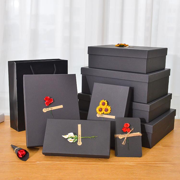 礼品盒子简约精美围巾盒包装盒长方形韩版生日礼物盒衣服礼盒定制