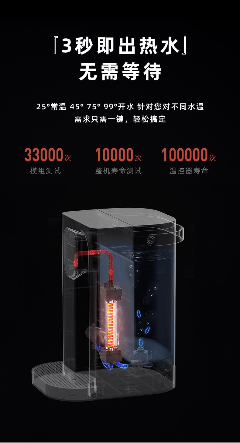集米 台式即热饮水机 1秒速热 4档调温 2.8L大容量 图10